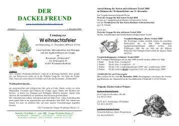 Der Dackelfreund - Nr. 5/2008 - Teckelklub Wiesbaden/ Mainz