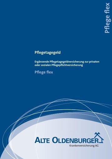 (TB) - Leistungsbeschreibung Pflegetagegeld Pflege flex - PKV-Wiki