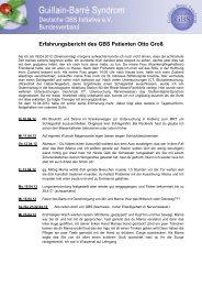 Erfahrungsbericht eines GBS Patienten - GBS Initiative e.V.