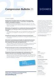 Compression Bulletin 25 - Sigvaris