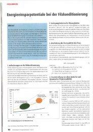 Energieeinsparpotentiale bei der Filzkonditionierung - Metso