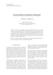 on optimization of hyperbolic systems with smooth controls and ...
