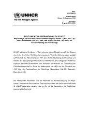 Richtlinien zum internationalen Schutz, Nr. 8 - UNHCR