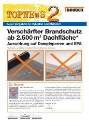 Neue Vorgaben für Industrie-Leichtdächer - Bau Docu Österreich