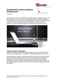 Argumentation Pro Kontra Whiteboards - Mobilwerke