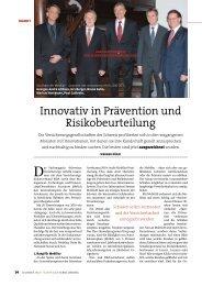 Innovativ in Prävention und Risikobeurteilung - Aon