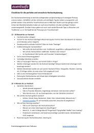 Checkliste Hochzeitsplanung - eventsofa