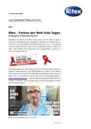 MEDIENINFORMATION Ritex - Partner des Welt-Aids-Tages