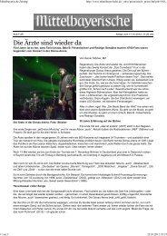 Mittelbayerische Zeitung - Das Die Ärzte Archiv