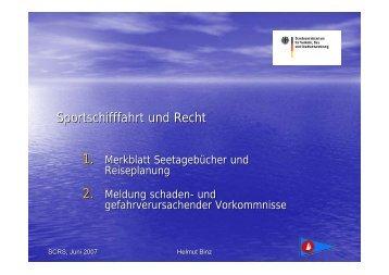 Sportschifffahrt und Recht - Segel-Club Rhein-Sieg e.V.