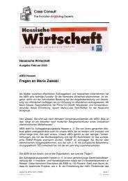 ABSt Hessen: Fragen an Mario Zaleski - CC GmbH