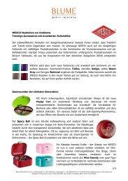 1/4 WESCO Neuheiten zur Ambiente Trendige Accessoires mit ...