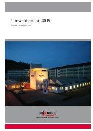 Umweltbericht 2009 Polymeca AG