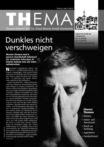 Gemeindebrief 2013 - Feb - Mar - Evangelische Ernst Moritz Arndt ...