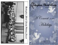 Rockingham Choral S ociety H oliday Concert