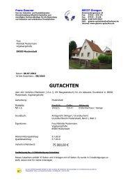GUTACHTEN - Gutachterbüro Franz Gassner