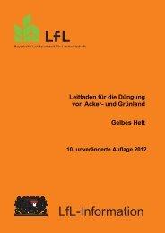 Leitfaden für die Düngung von Acker- und Grünland - Bayerische ...