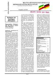 07/03 Religion im heutigen Äthiopien - Deutsch-Aethiopischer-Verein