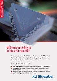 Mähmesserklingen - Busatis GmbH
