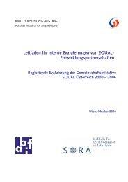 Leitfaden für interne Evaluierungen von EQUAL ... - bei abif