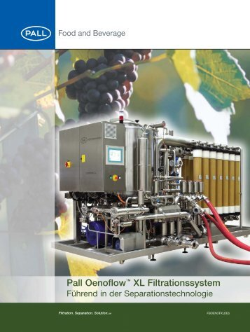Pall Oenoflow XL Filtrationssystem:FBOENOFXLDE