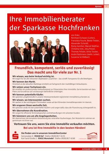Ihre Immobilienberater der Sparkasse Hochfranken