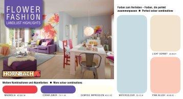 """Farbkarte """"Flower Fashion"""" - Hornbach"""