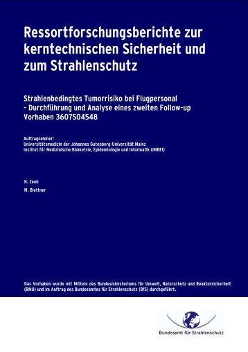 Ressortforschungsberichte zur kerntechnischen Sicherheit und zum ...