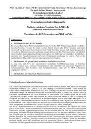 Molekulargenetisches Labor Molekulargenetische Diagnostik