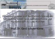 Prof. Dr. Gerd Schulte-Körne - bei LEGASG