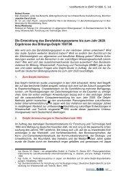 Die Entwicklung des Berufsbildungssystems bis zum Jahr 2020 - BiBB
