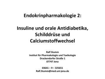 Insulin - Institut für Pharmakologie und Toxikologie