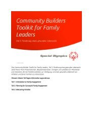 Das Community Builder Toolkit for Family ... - Special Olympics