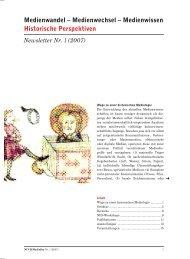 Newsletter 1 - NCCR Mediality