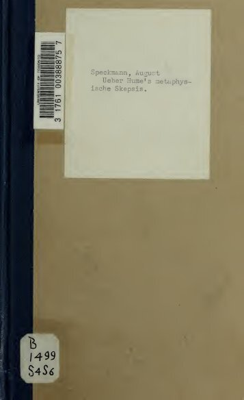 Ueber Hume's metaphysische Skepsis