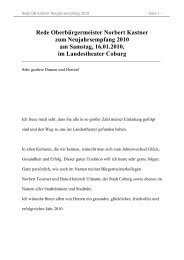 Rede Oberbürgermeister Norbert Kastner zum ... - Stadt Coburg