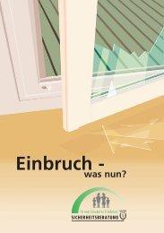 Einbruch was nun? - Kantonspolizei St.Gallen