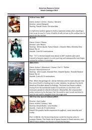 American Resource Center Movie Catalogue 2012 1.2.3.4.5……. 3 ...