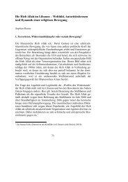 Die Hizb Allah im Libanon – Weltbild, Autoritätsformen und Dynamik ...