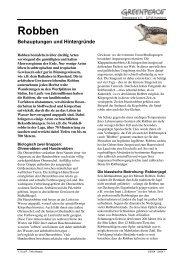 Robben (pdf, ca. 250 kB) - Greenpeace Gruppen in Deutschland