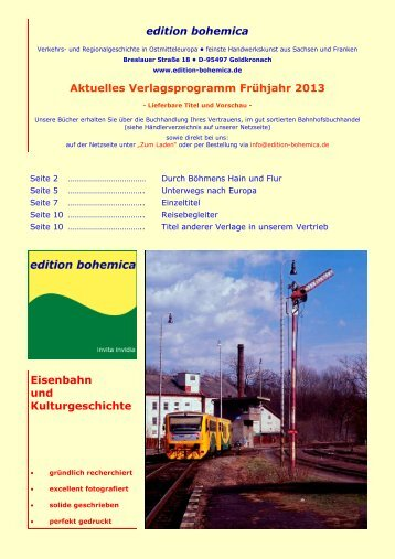 edition bohemica Aktuelles Verlagsprogramm Frühjahr 2013 ...
