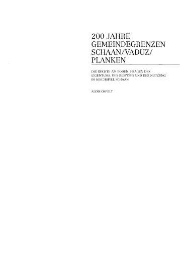 200 jahre gemeindegrenzen schaan/vaduz - eLiechtensteinensia