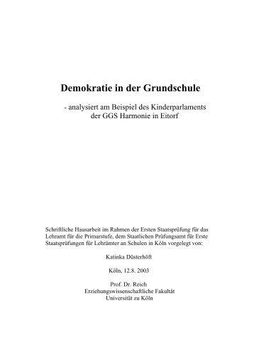 Kinderparlament - Methodenpool - Universität zu Köln