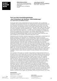 Vorwort Katalog Kurt Schwitters (pdf) - Kunstmuseum Bern