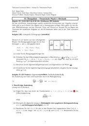 10. Übungsblatt – Theoretische Physik I: Mechanik - Institut für ...
