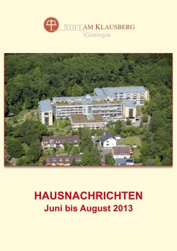 Aug. 2013 - Stift am Klausberg, Göttingen