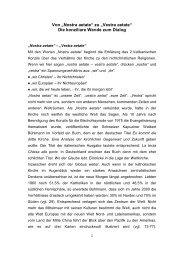 """Von """"Nostra aetate"""" zu """"Vestra aetate"""" Die ... - Hans Waldenfels"""