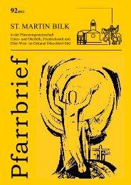 Pfarrbrief St. Martin - des Pfarrverbandes Bilk-Friedrichstadt