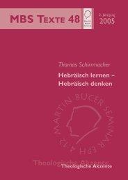 Hebräisch lernen - Hebräisch denken - Martin Bucer Seminar