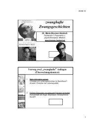 Zwangsstörung / Zwangserkrankung